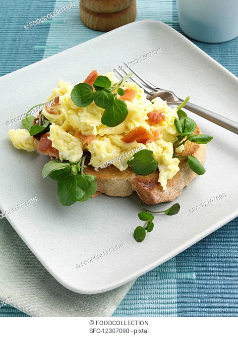 Scrambled eggs editorial food