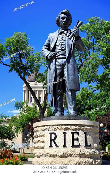 Louis Riel statue at Manitoba Legislative Building grounds, Winnipeg, Manitoba, Canada