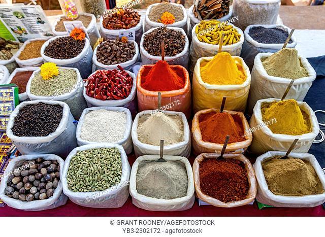 Spice Stall, Anjuna Flea Market, Anjuna, Goa, India