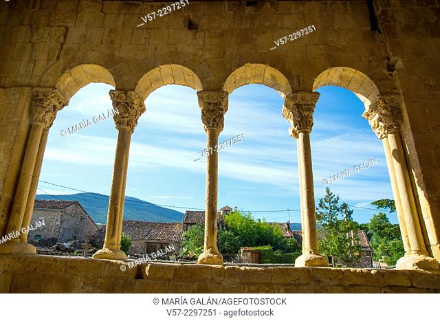 View from the Romanesque church. Sotosalbos, Segovia province, Castilla Leon, Spain