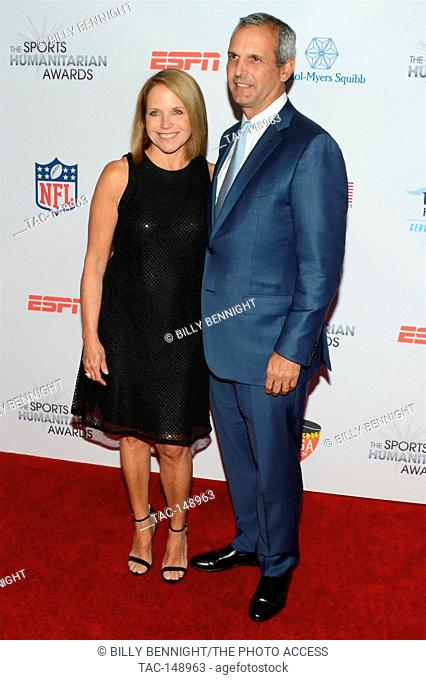 Katie Couric and John Molner attends the 3rd Annual Sports Humanitarian of the Year Awards at LA LIVE'S The Novo in Los Angeles on July 11, 2017