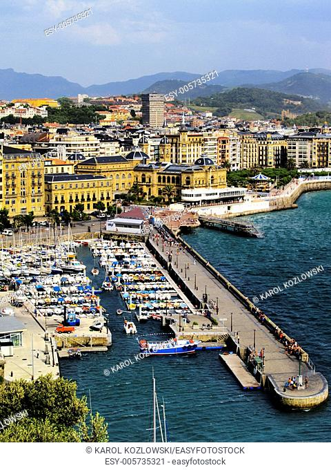 Small Harbor in Donostia - San Sebastian, Basque Country, Spain