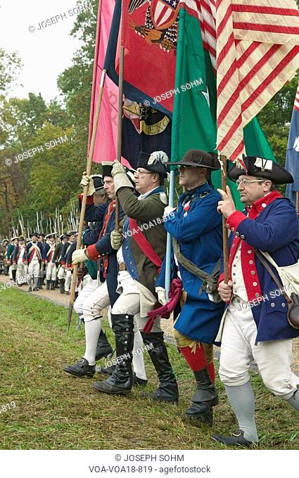 Continentals arrive at the 225th Anniversary of the Victory at Yorktown, a reenactment of the siege of Yorktown, where General George Washington commanded 17