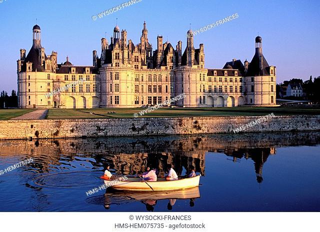 France, Loir et Cher, Chambord castle Loire River's castles