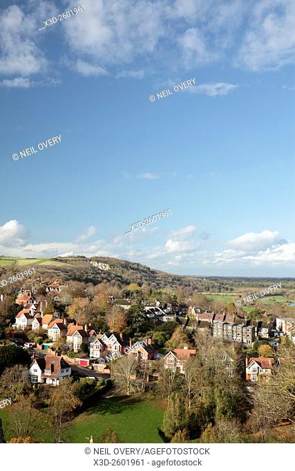 View of Lewes, East Sussex, England