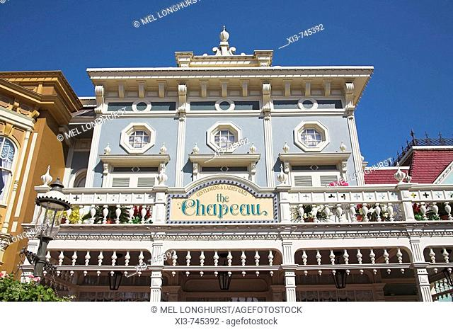 The Chapeau gentlemen and ladies hat shop, Main Street, Magic Kingdom, Orlando, Florida, USA