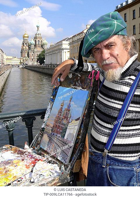 Street painter, St. Petersburg, Russia