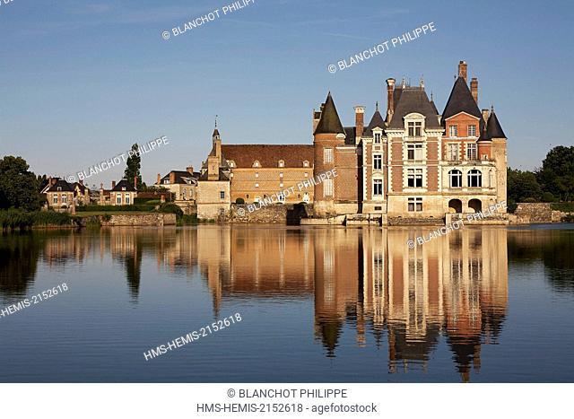 France, Loiret, La Bussiere, Chateau of fishermen, overview