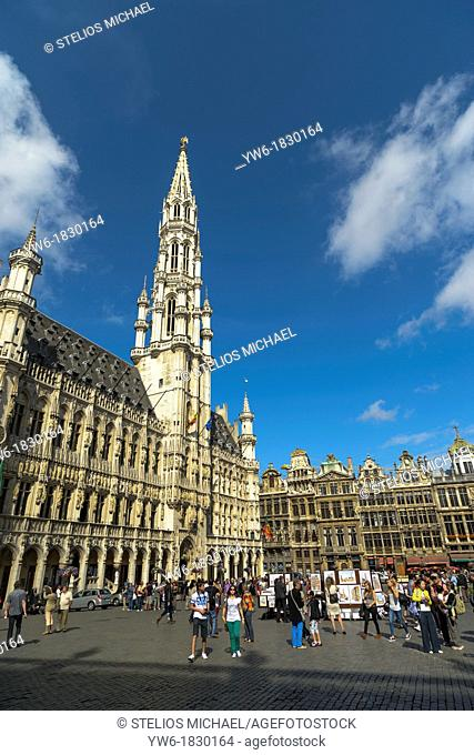 Town Hall, Grand Place,Brussels,Belgium,Europe