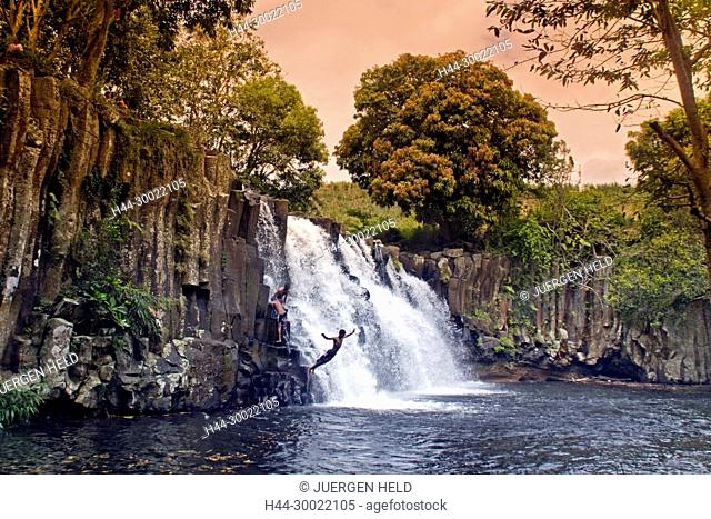 Rochester Falls in Mauritius, Africa