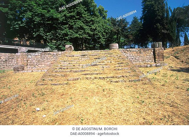 Staircase of the Etruscan Temple of Belvedere, Orvieto, Umbria, Italy, Etruscan civilization, 5th century BC