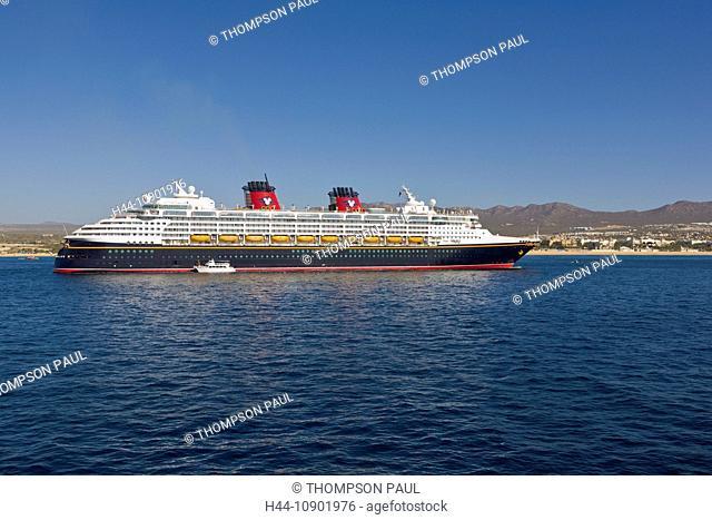 Cabo San Lucas, Mexico, Cabo, Disney Cruise Ship, Wonder, Baja California, beach, cruise ship, tender, horizontal