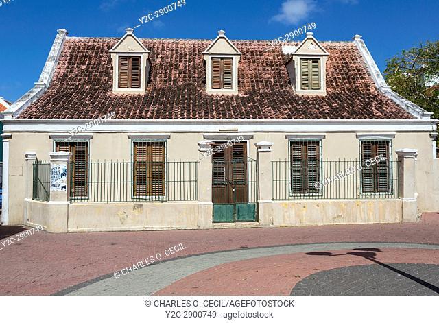 Willemstad, Curacao, Lesser Antilles. Old House in Otrobanda