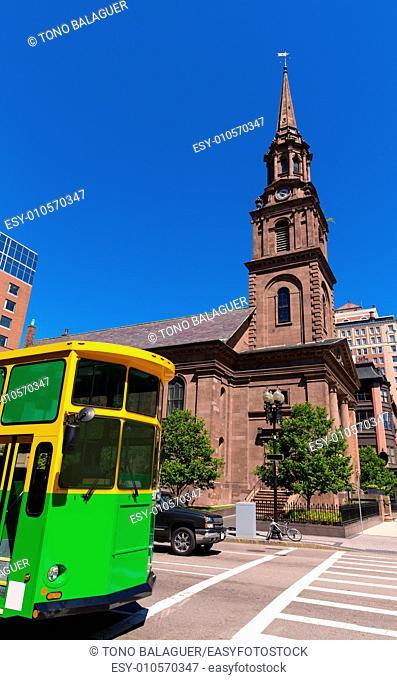 Boston Arlington Street Church in Massachusetts USA