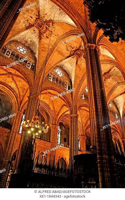 Basilica of Santa Eulalia, Barcelona Cathedral, Gothic, Barcelona, Catalonia, Spain