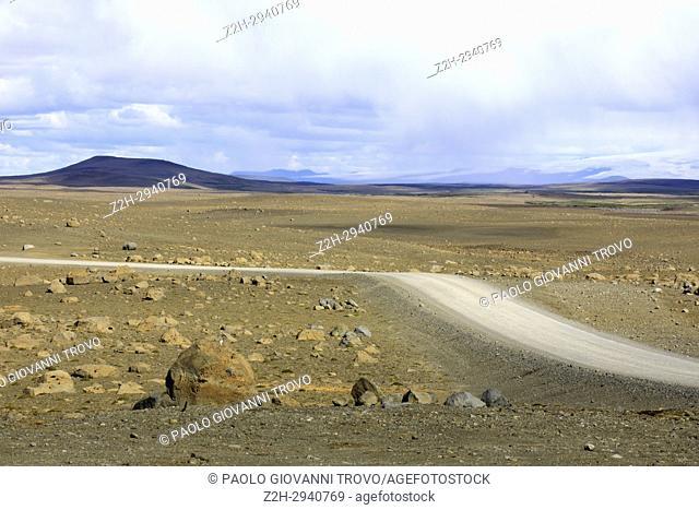 Scenery along the Kjolur Highland Road, Iceland, Europe