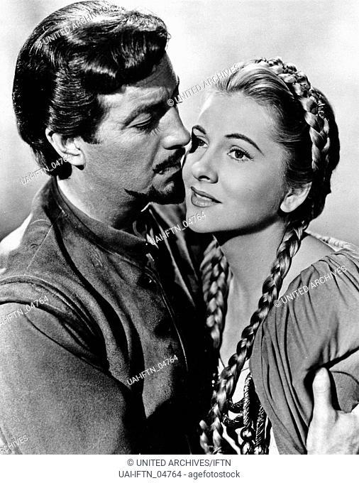 Ivanhoe, aka Ivanhoe - Der schwarze Ritter, USA, 1952, Regie: Richard Thorpe, Darsteller: Robert Taylor, Elizabeth Taylor