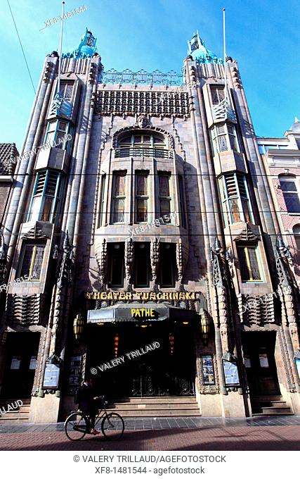 Art deco Cinema Tuschinski, Amsterdam city, Holland, Europe