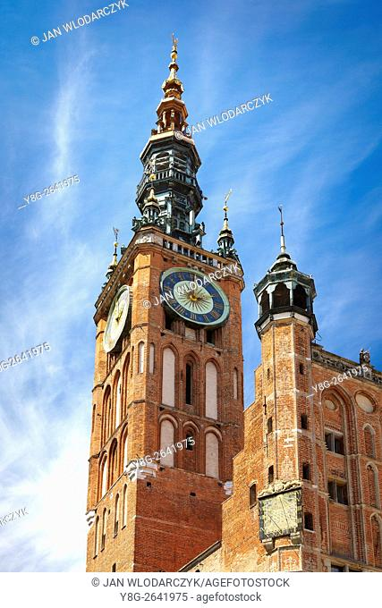 St Mary's Church, Old Town in Gdansk, Poland