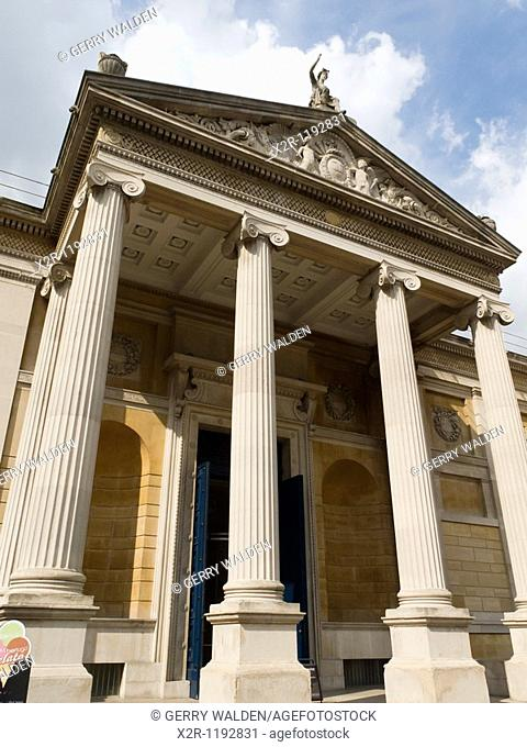 Oxford, England - The Ashmolean Museum in the centre of Oxford