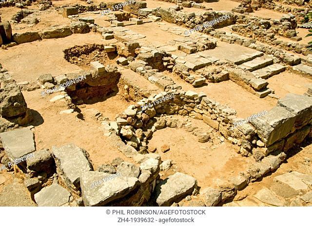 Hania, Crete, Greece. Minoan archaeological site of Kidonia
