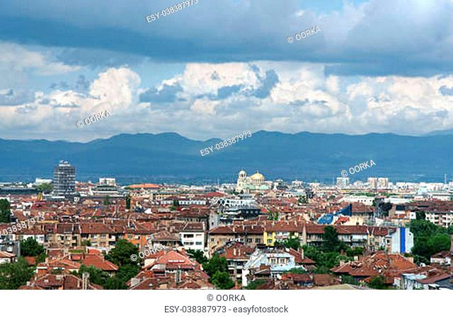 View from Sofia city, capital of Bulgaria