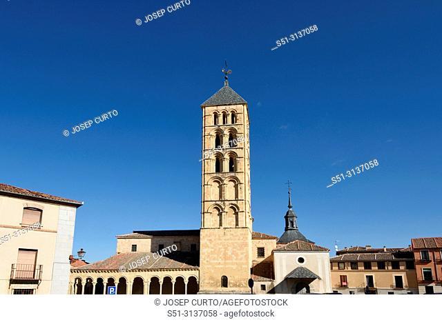 St. Stephen's church (12th century), Segovia. Castilla-Leon, Spain