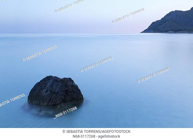 Before dawn at Na Clara, Arta coast, Majorca, Balearic Islands, Spain