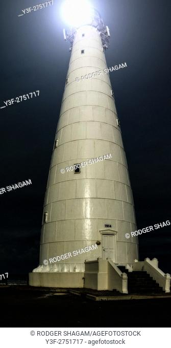Slangkop (Snake Head) lighthouse is built of steel. At Kommetjie, near Cape Town, South Africa
