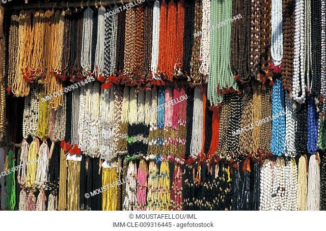 Shop of necklaces  Chitrakoot, Uttar Pradesh, India, Asia