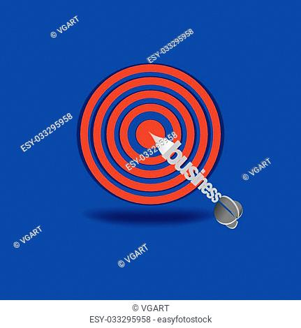 target with business aim vector illustration