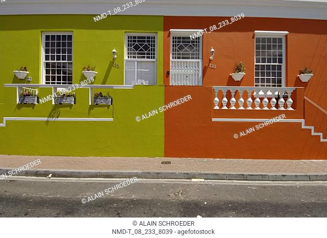 Houses along a street, Bo-Kaap, Cape Town, Western Cape Province, South Africa