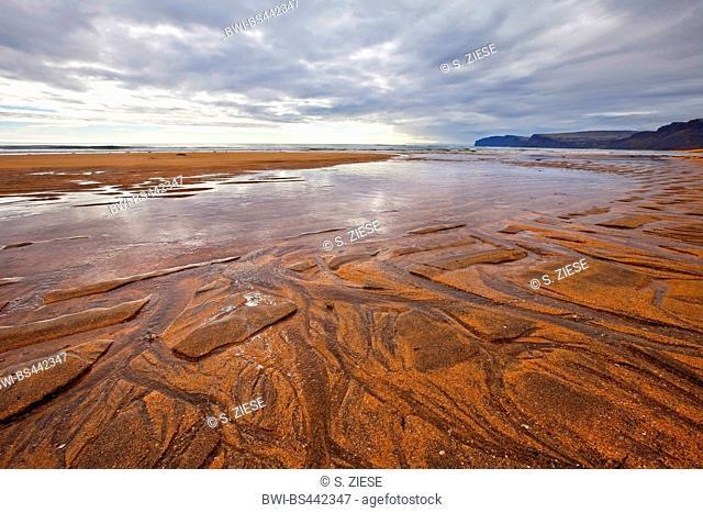 sandy beach of Raudasandur, Iceland, Westfjorde