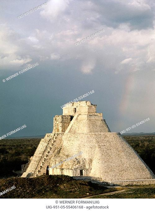 The Pyramid of the Magician at Uxmal