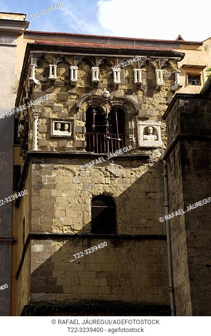 Naples (Italy). Bell tower of the church of San Giorgio Maggiore in the city of Naples