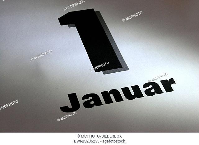 january 1st calendar sheet