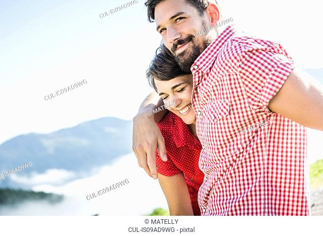 Portrait of young couple, Tyrol, Austria