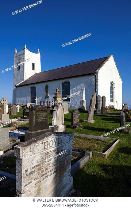 UK, Northern Ireland, County Antrim, Ballintoy, Ballintoy Church