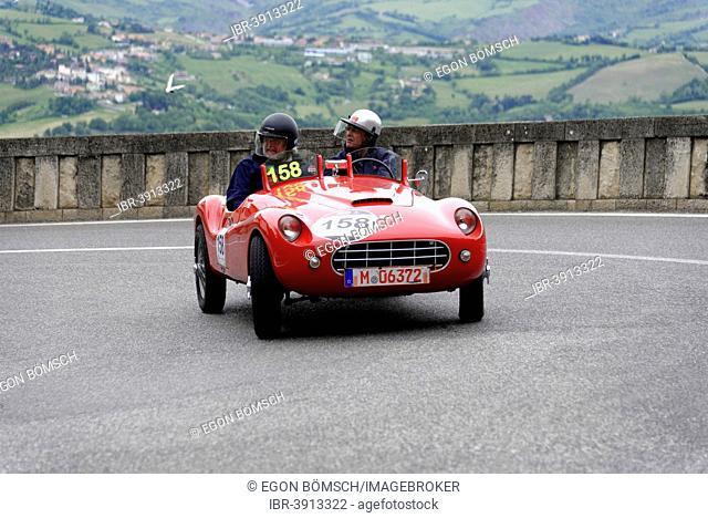 Stanguellini 1100 Sport, built in 1948, Mille Miglia 2014 or 1000 Miglia 2014, vintage car race, San Marino, Italy