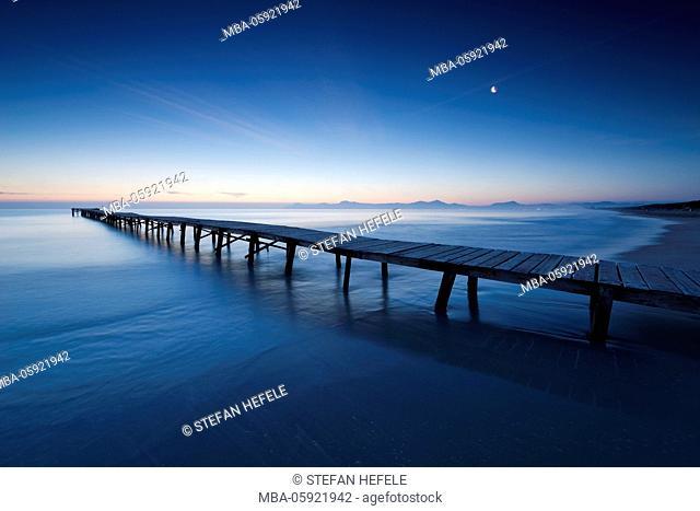 footbridge over the sea, Majorca, Spain
