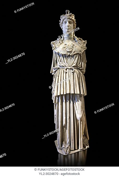 A Roman statue of the Parthenon Athena, a Roman copy of the great statue from the Parthenon in Athens. Louvre Museum, Paris