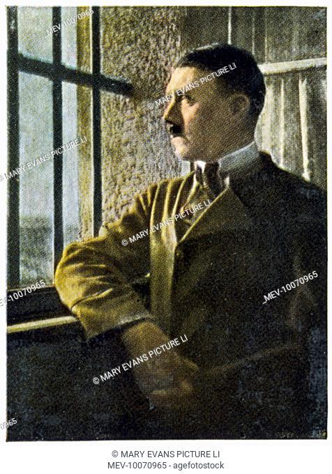 Hitler in the Festung Landsberg prison after the failure of the putsch in Munich