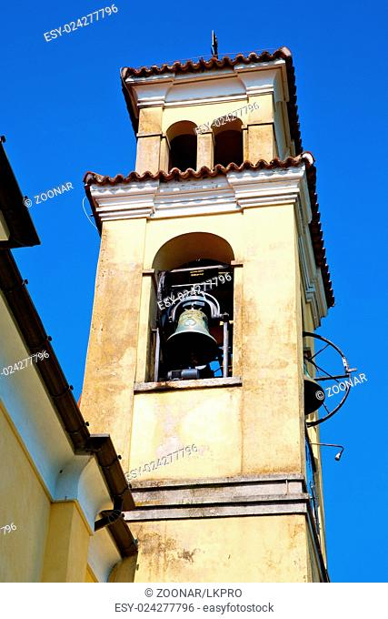 ancien clock tower in  europe old stone and bell