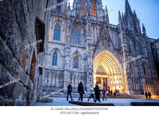 Cathedral of the Holy Cross and Saint Eulalia, Barcelona, Catalonia, Spain