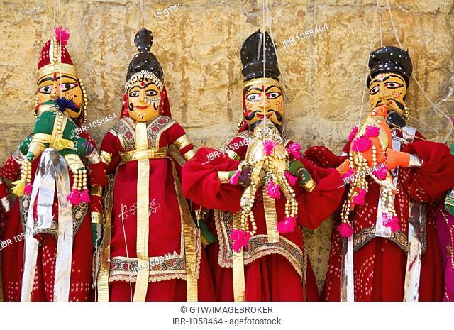 Rajput puppets, Jaisalmer, Thar Desert, Rajasthan, India, South Asia
