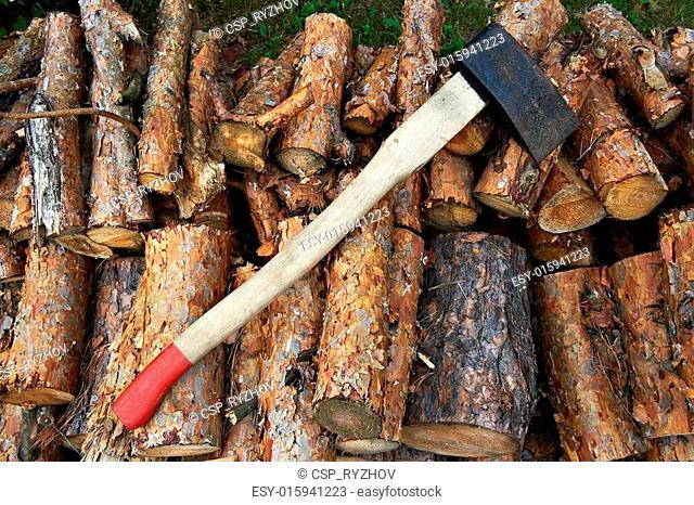 ax on wood