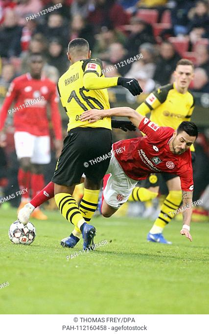 24.11.2018, Rheinland-Pfalz, Mainz: Football: Bundesliga, FSV FSV FSV Mainz 05 - Borussia Dortmund, 12th matchday in the Opel Arena