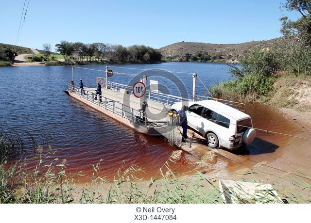 Pont over the Bree River at Malgas, Western Cape, South Africa