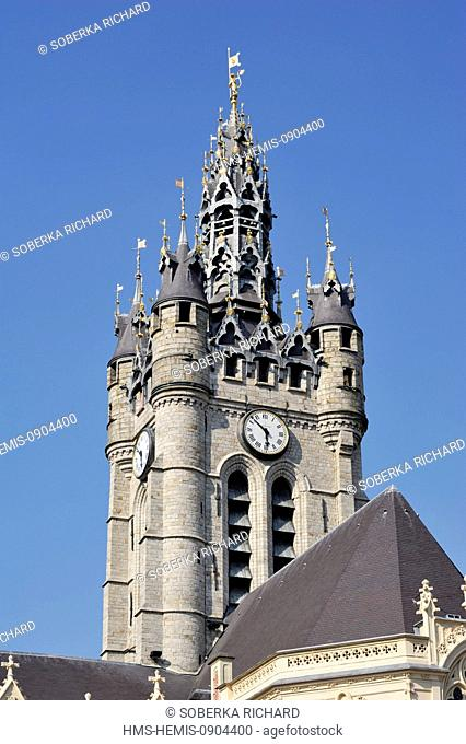 France, Nord, Douai, City Hall, belfry listed as World Heritage by UNESCO
