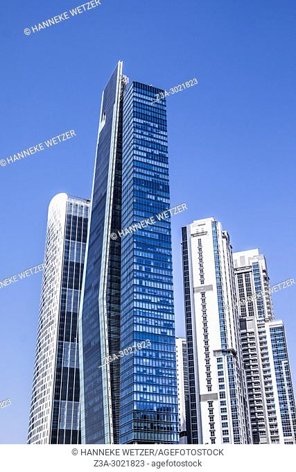 The Vision Tower and the Executive Towers; brand new modern architecture in Business Bay, a business capital as well as a freehold city in Dubai